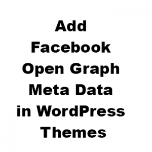How to Add Facebook Open Graph Meta Data Without Plugins