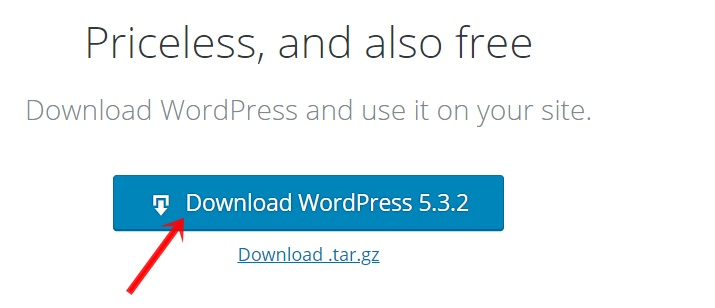 Download WordPress Software for free