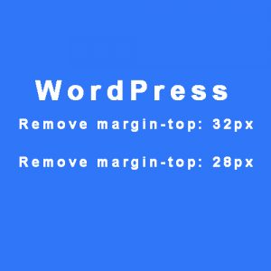 How to Remove Top Margin from any WordPress Website