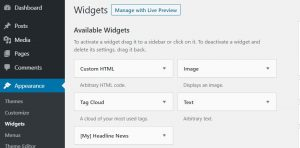 How to remove or disable default widget in WordPress